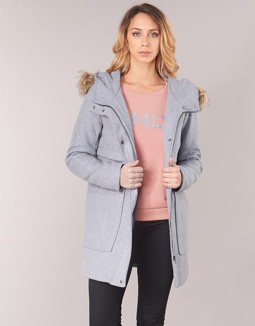 Clothing Women Coats Only ONLNOAH Grey