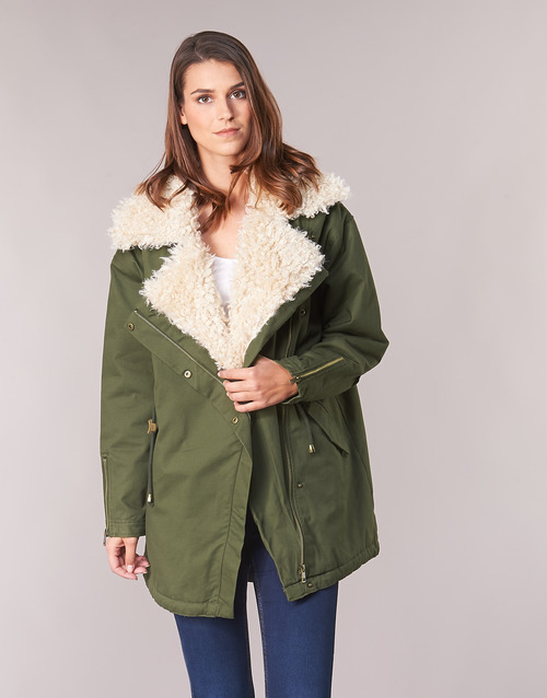 Clothing Women Parkas Only ONLODA Kaki