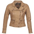 Clothing Women Leather jackets / Imitation leather Oakwood CAMERA Cognac