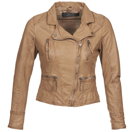 Clothing Women Leather jackets / Imitation leather Oakwood CAMERA Cognac