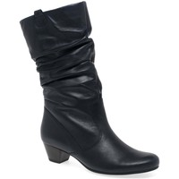Shoes Women Boots Gabor Rachel Leather Wide Fitting Boots blue