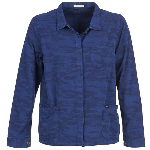 Clothing Women Jackets / Blazers Lee CAMO Blue