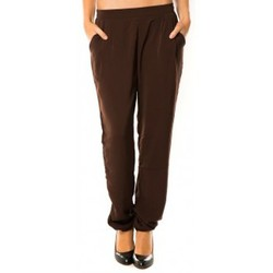 Clothing Women Tracksuit bottoms Dress Code Pantalon R9771 Marron Brown