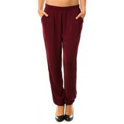 Clothing Women Tracksuit bottoms Dress Code Pantalon R9771 Bordeaux Red