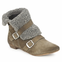 Shoes Women Mid boots Bronx CREPOU Grey