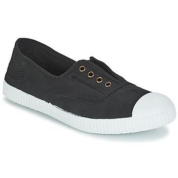 Shoes Low top trainers Victoria INGLESA ELASTICO TINTADA Black