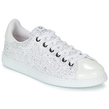 Shoes Women Low top trainers Victoria TENIS GLITTER White