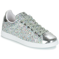 Shoes Women Low top trainers Victoria TENIS GLITTER Blue