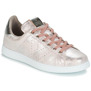 Shoes Women Low top trainers Victoria TENIS METALIZADO Pink