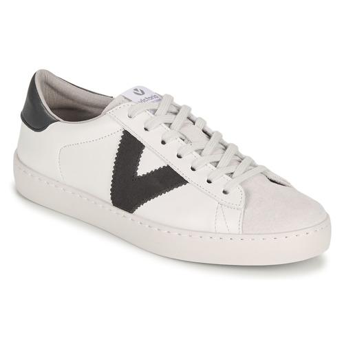Shoes Men Low top trainers Victoria BERLIN PIEL CONTRASTE White / Grey