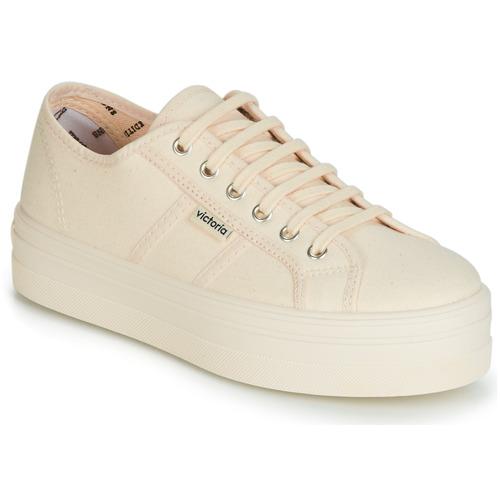 Shoes Women Low top trainers Victoria BARCELONA LONA MONOCROMO Beige
