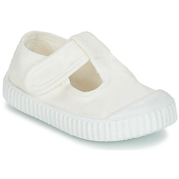 Shoes Children Flat shoes Victoria SANDALIA LONA TINTADA White