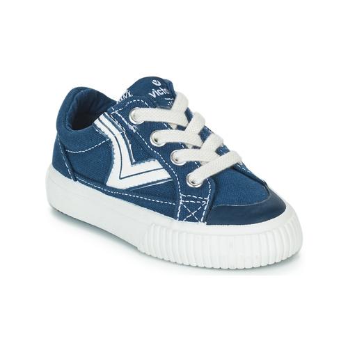 Shoes Children Low top trainers Victoria TRIBU LONA RETRO Blue