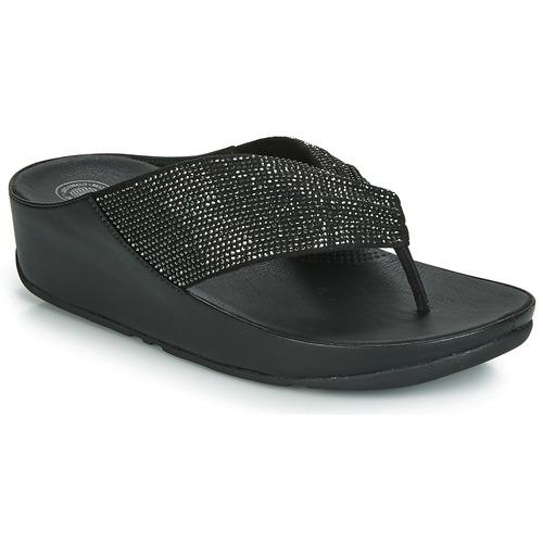 Shoes Women Flip flops FitFlop TWISS CRYSTAL Black