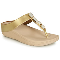 Shoes Women Flip flops FitFlop FINO SHELLSTONE Gold