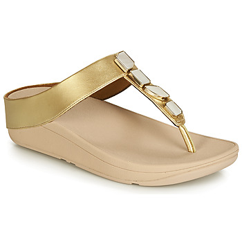 Shoes Women Sandals FitFlop FINO SHELLSTONE Gold