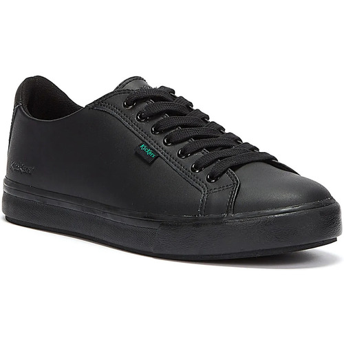 Shoes Low top trainers Kickers Black Leather Tovni Lacer Trainers Black