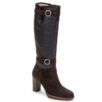 Shoes Women High boots Espace MANOR Brown