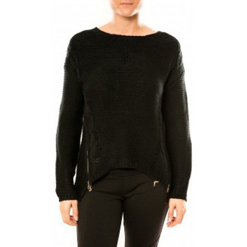 Clothing Women Jumpers By La Vitrine Pull Laetitia MEM K078 Noir Black