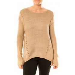 Clothing Women Jumpers By La Vitrine Pull Laetitia MEM K078 Taupe Brown
