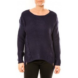 Clothing Women Jumpers By La Vitrine Pull Laetitia MEM K078 Bleu Blue