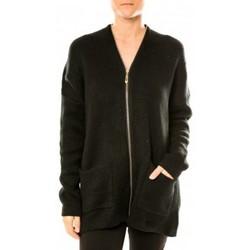 Clothing Women Jackets / Cardigans Tcqb Gilet Lely Wood L586 Noir Black