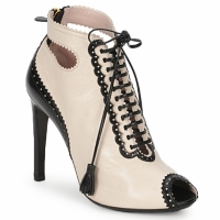 Shoes Women Shoe boots Moschino MA1602A 100-Capri-nude-nero
