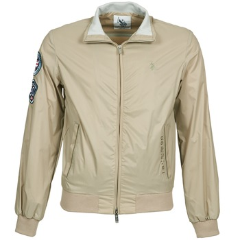 Clothing Men Jackets U.S Polo Assn. PLAYER Beige