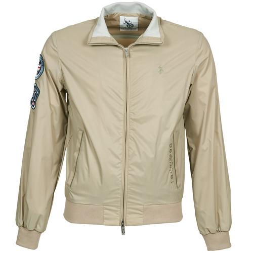Clothing Men Jackets U.S Polo Assn. PLAYER Beige