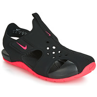 Shoes Girl Sandals Nike SUNRAY PROTECT 2 PS Black / Pink