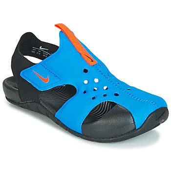Shoes Boy Sandals Nike SUNRAY PROTECT 2 PS Black / Blue