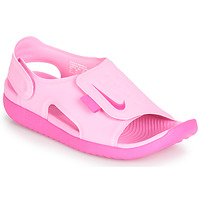 Shoes Girl Low top trainers Nike SUNRAY ADJUST 5 Pink