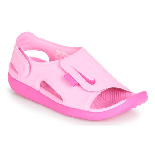 Shoes Girl Sandals Nike SUNRAY ADJUST 5 Pink