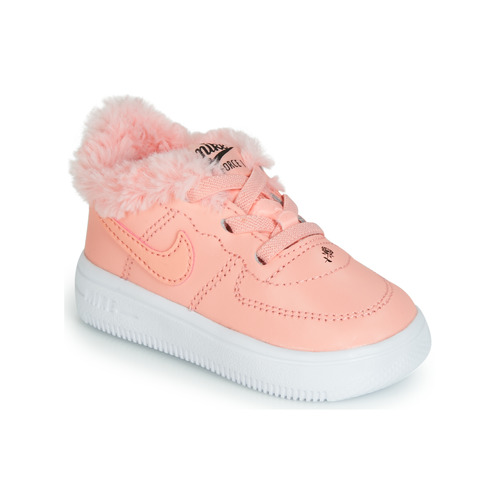 Shoes Boy Low top trainers Nike AIR FORCE 1 TODDLER Pink