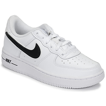 Shoes Children Low top trainers Nike AIR FORCE 1-3 PS White / Black