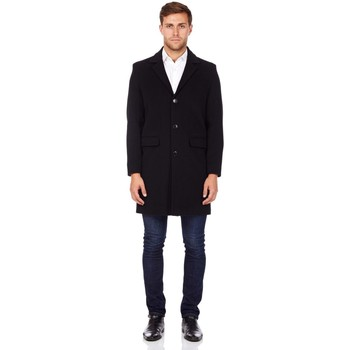 Clothing Men Coats De La Creme Cashmere Wool Winter Coat Black