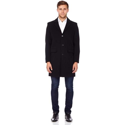 Clothing Men Coats De La Creme Cashmere Wool Winter Coat Black