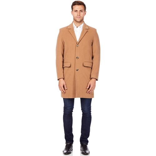 Clothing Men coats De La Creme Cashmere Wool Winter Coat BEIGE