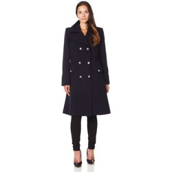 Clothing Women Coats De La Creme Military Cashmere Wool Winter Coat Black