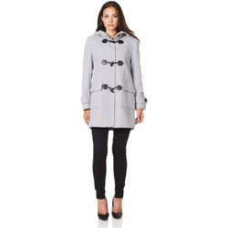 Clothing Women Coats De La Creme Wool Cashmere Winter Hooded Duffle Coat Grey